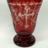 Candela semicristal medie rosie