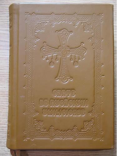 Carte de rugaciuni umilicioase cu coperti din piele naturala