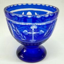 Candela de masa semicristal albastra